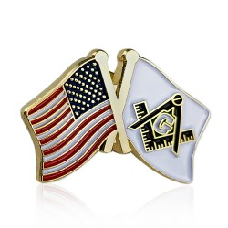 Pin Drapel Masonerie - SUA