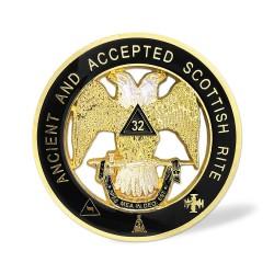 Sticker Auto cu Simboluri Masonice Grad 32