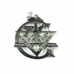 Pandantiv masonic argintiu in forma Literei G - MM762