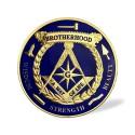 Sticker Auto - Auriu pe fond Albastru - Brotherhood