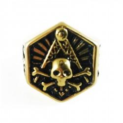 Inel Masonic Auriu - Cap de Mort
