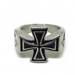 Inel Argintiu - Crucea Cavalerilor Templieri