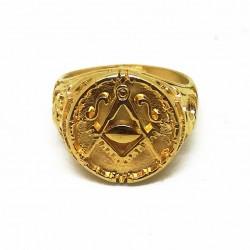 Inel Masonic Auriu - Soarele si Luna