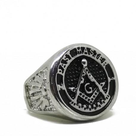 Inel Masonic Argintiu - Maestru din trecut