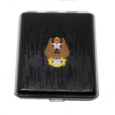 Tabachera 18 Tigari Cu Simboluri Masonice HG-603