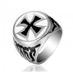 Inel Ordinul Cavalerilor Templieri - White & Black