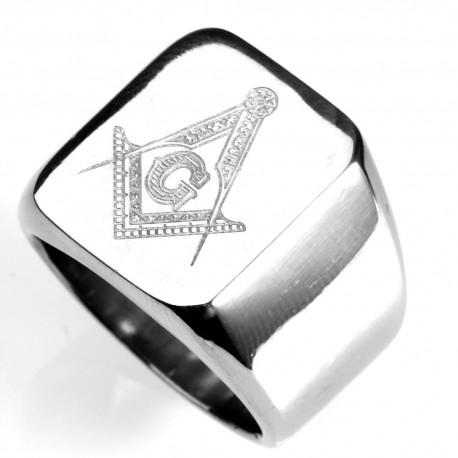 Ine Masonic Echer Si Compas Gravat Argintiu