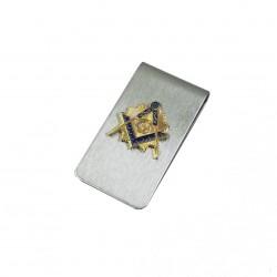 Clips pentru bani cu simbol masonic auriu MM878