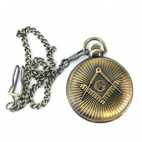 Ceas de buzunar masonic - Culoare Bronz