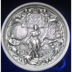 Medalie - 25 de ani de domnie a regelui Carol I - 85m