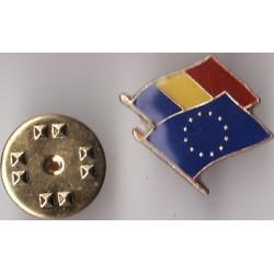 Pin Drapel Romania - Uniunea Europeana