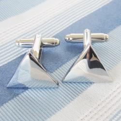 Butoni Triunighi Delta - Silver