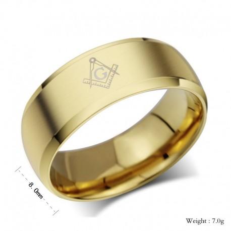 Inel mason rotund GOLD