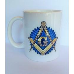 Cana simboluri Echer si Compas cu G Albastru