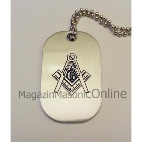 Pandantiv tip military cu simboluri masonice