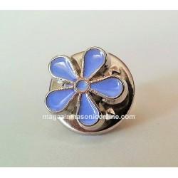 Pin masonic - Floare Nu ma uita - 7 mm