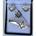 Set cadou 3 bijuterii Echer Cmpas cu litera G SILVER