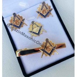 Set cadou 3 bijuterii Echer Cmpas cu litera G  GOLD
