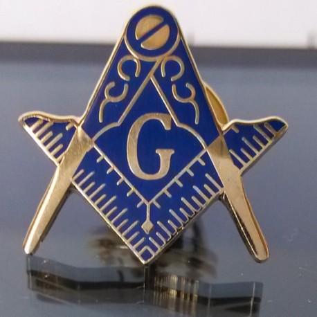 Pin francmason Echer Compas Albastru