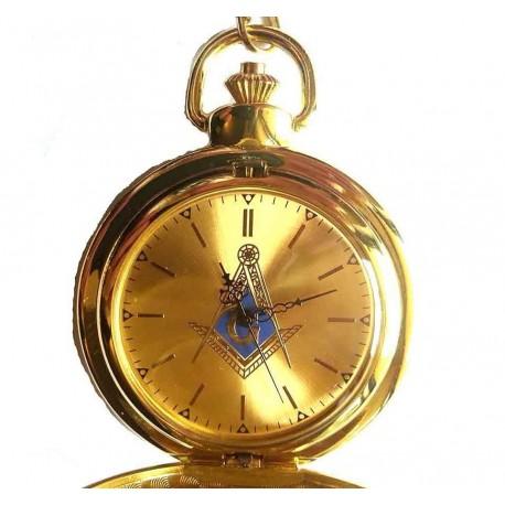Ceas de Buzunar cu simboluri masonice - Auriu