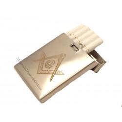 Tabachera tigari / Suport carti de vizita / Portvizit simboluri masonice