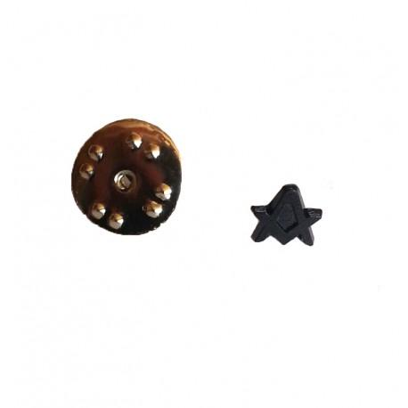 Pin mason - Echer si compas fara litera G - DISCRET