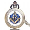 Ceas De Buzunar Cu Simboluri Masonice Antique Style