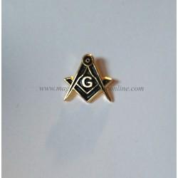 Pin Masonic Elegant Echer Compas si Litera G