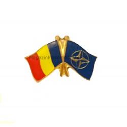 Insigna Drapel Romaniei + NATO