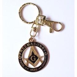 Breloc chei cu simboluri masonice F H C