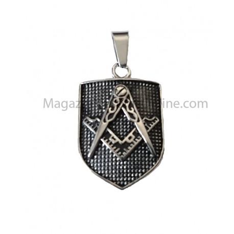 Pandantiv Scut Cu Simboluri Masonice