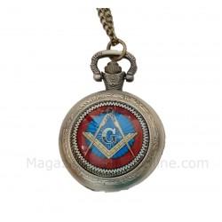 Ceas De Buzunar Cu Simboluri Masonice Mozaic