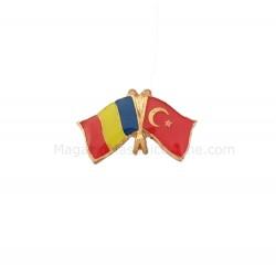 Pin Drapel Romania - Turcia