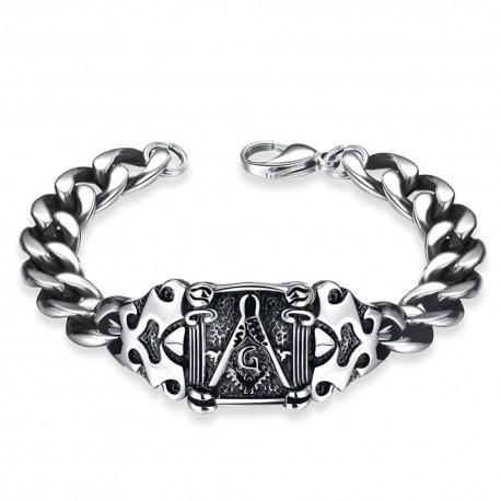 Bratara Cu Simboluri Masonic Rock Style