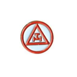 Pin Masonic - Royal Arch - Rosu