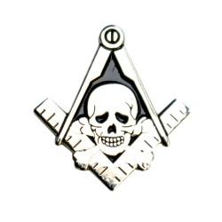 Pin Masonic skull head