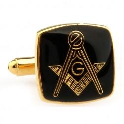 Butoni Cu Simboluri Masonice Patrati Aurii