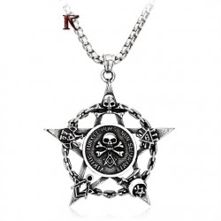 Pentagrama cu simboluri Masonice Otel  316l