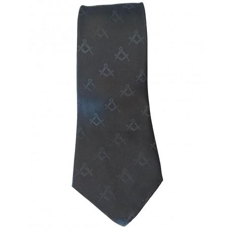 Cravata cu simboluri masonice neagra