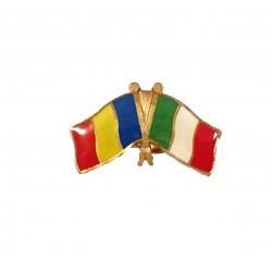 Insigna Pin Drapel Romania Italia