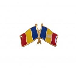 Insigna Drapel Romaniei + Drapel Moldova