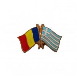 Insigna Drapel Romaniei + Drapel Grecia