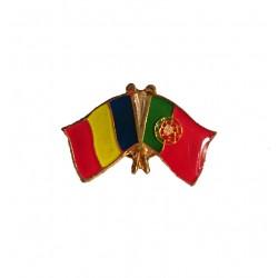 Insigna Drapel Romaniei + Drapel Portugalia