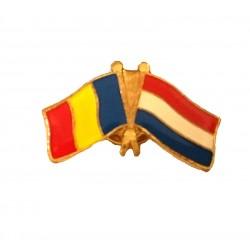Insigna Drapel Romaniei  Drapel Olanda