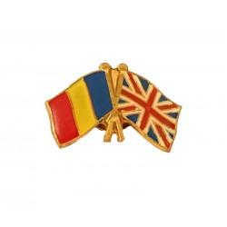 Insigna Drapel Romaniei  Drapel Anglia