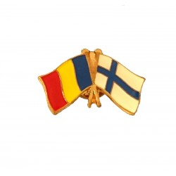Insigna Drapel Romaniei  Drapel Finlanda
