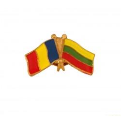 Insigna Drapel Romaniei  Drapel Lituania
