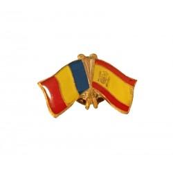 Insigna Drapel Romaniei  Drapel Spania