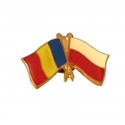 Insigna Drapel Romaniei Drapel Polonia