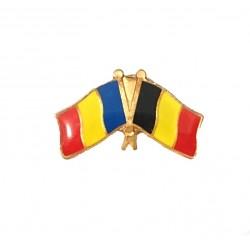 Insigna Drapel Romaniei + Belgia